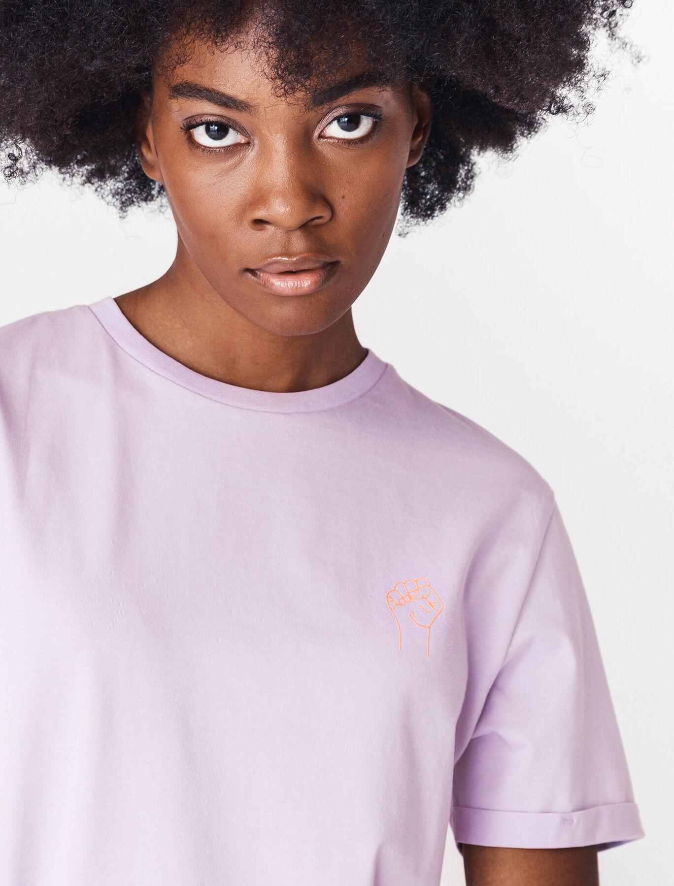 T-shirt unisexe print devant/dos en coton bio