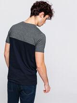 T-shirt colorblock avec poche