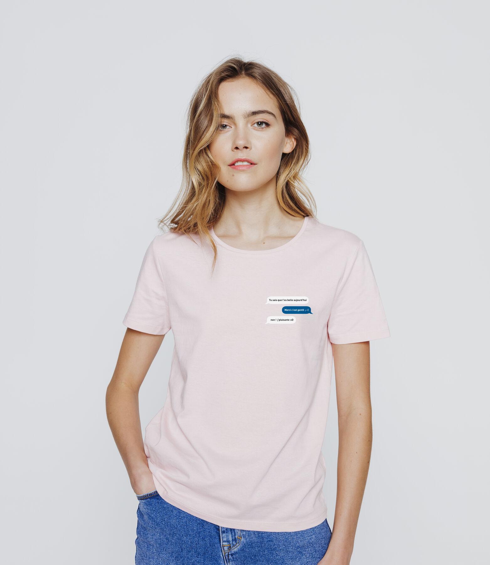 T-shirt message humour façon texto