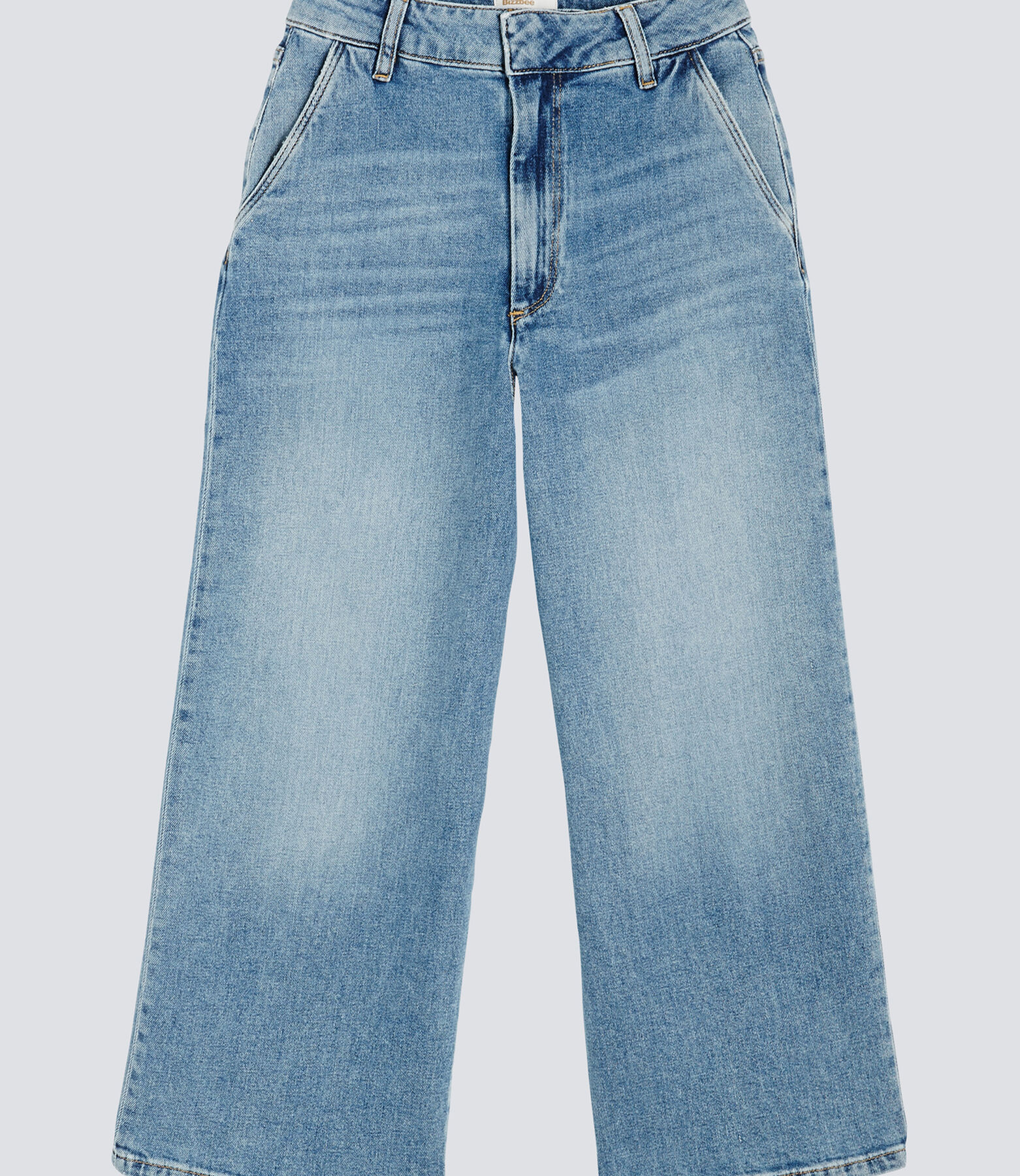 Jeans denim large taille  haute cropped