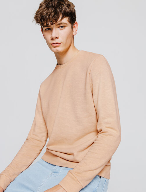 Sweat col rond Garment dyed homme