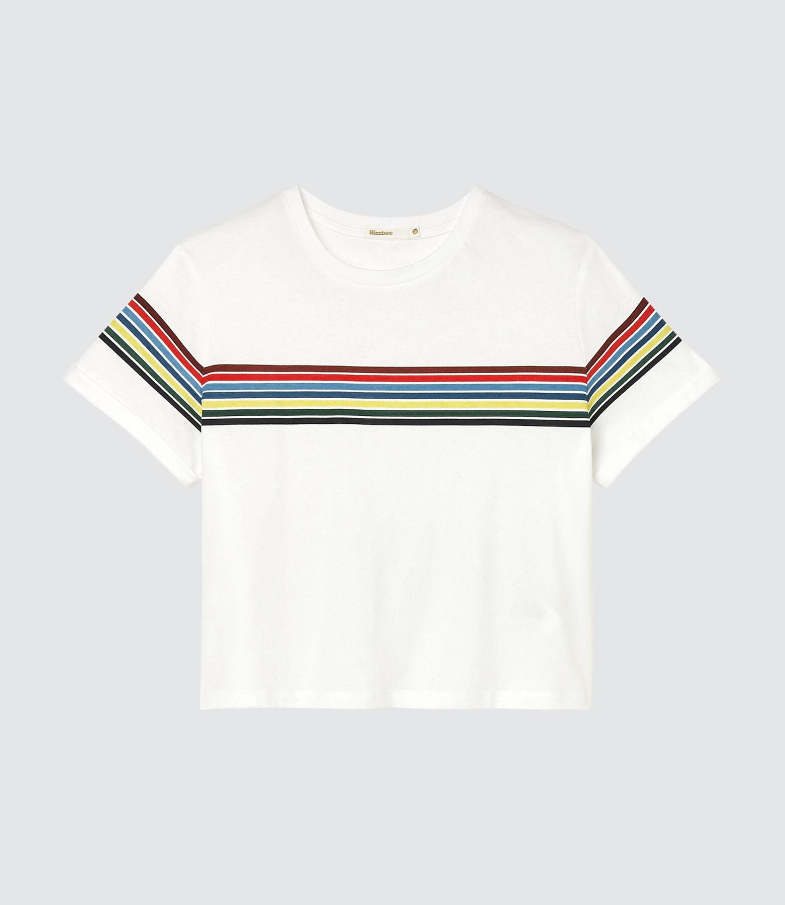 T-shirt rayure placée