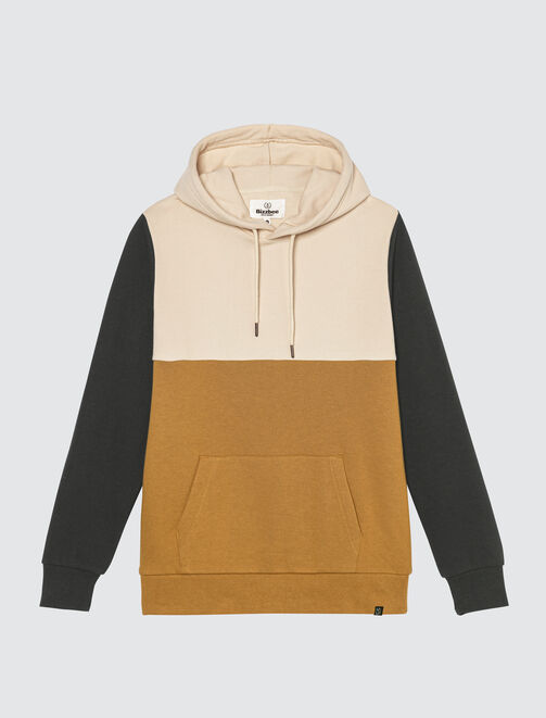 Sweat à capuche colorblock homme