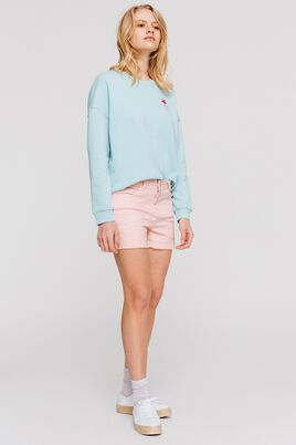 Short denim couleur