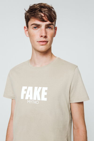 "T-shirt à message ""Fake mytho"""