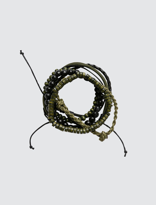 Set de Bracelets Kaki homme