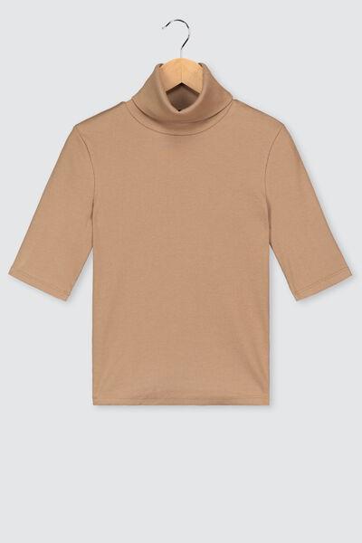 T-shirt col roulé bio
