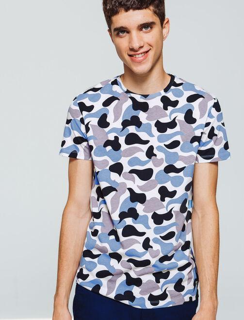 T-shirt imprimé formes abstraites homme
