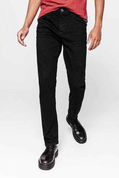 Jean straight noir brut en coton recyclé