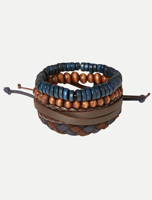 Set de bracelets BOY marine homme