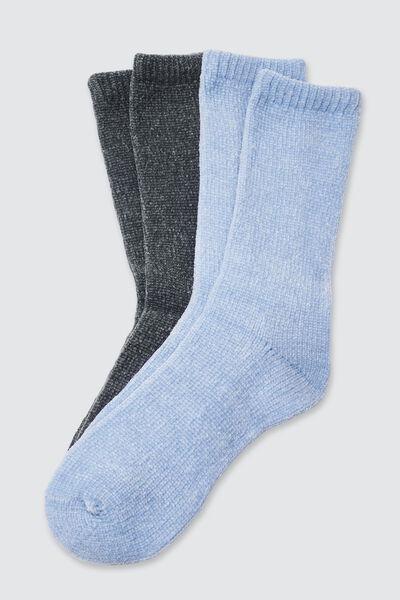 Lot de 2 chaussettes chenille