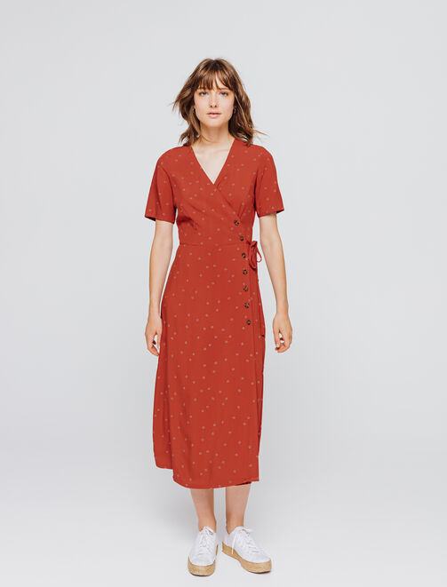 Robe longue cache cœur femme