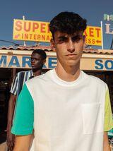 T-shirt loose manches bicolores en coton BIO