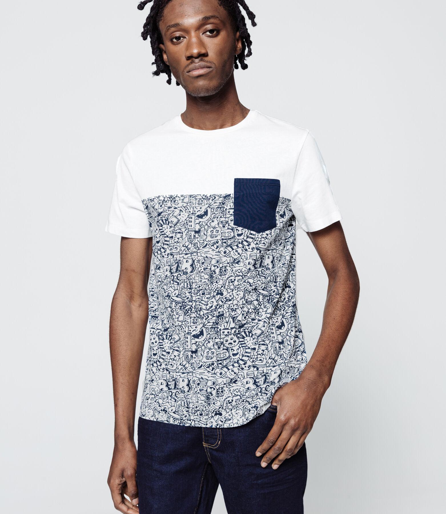 T-shirt poche print AOP