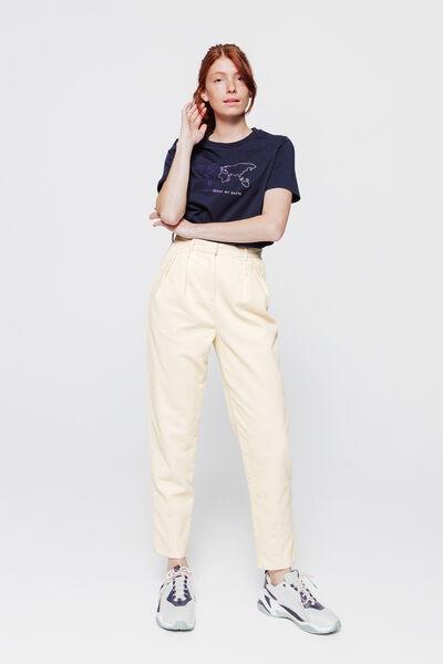 Pantalon slouchy velours à pinces