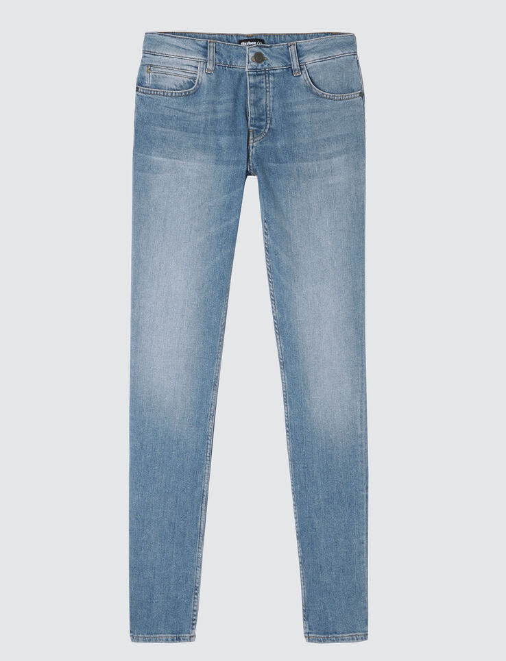 Jean skinny stone délavage dirty