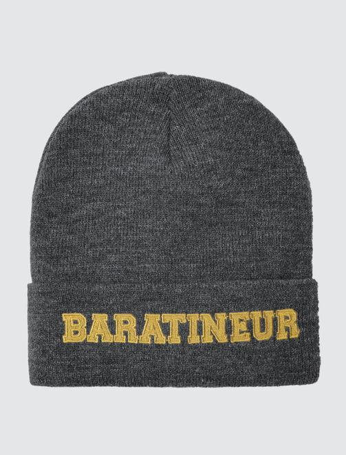 """Bonnet Message """"Baratineur"""" homme"""