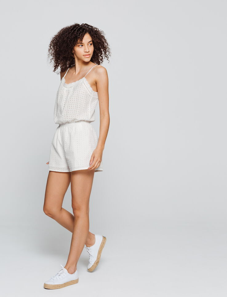 Combi-short broderie anglaise