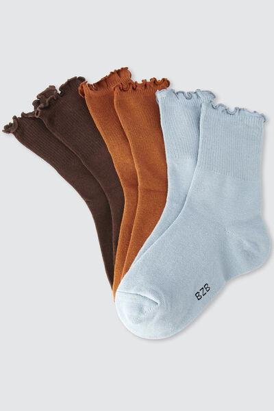 Lot de 3 chaussettes unies frills