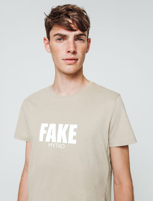 "T-shirt à message ""Fake mytho"" homme"