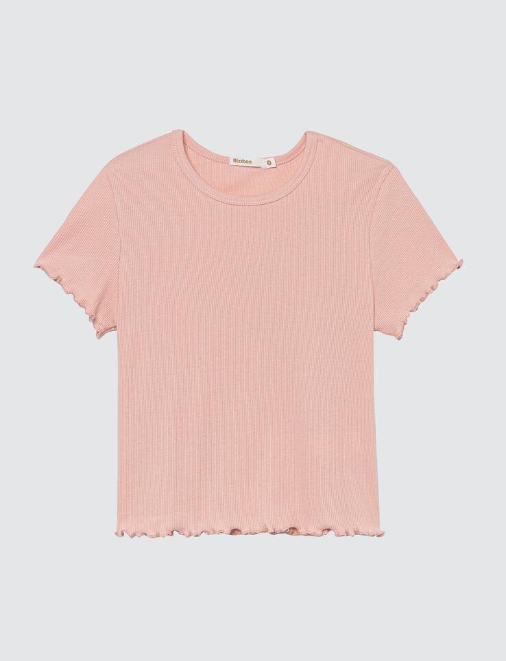 T-shirt à côtes frill