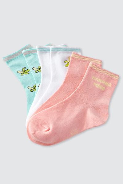 Lot de 3 paires de chaussettes banane IAB
