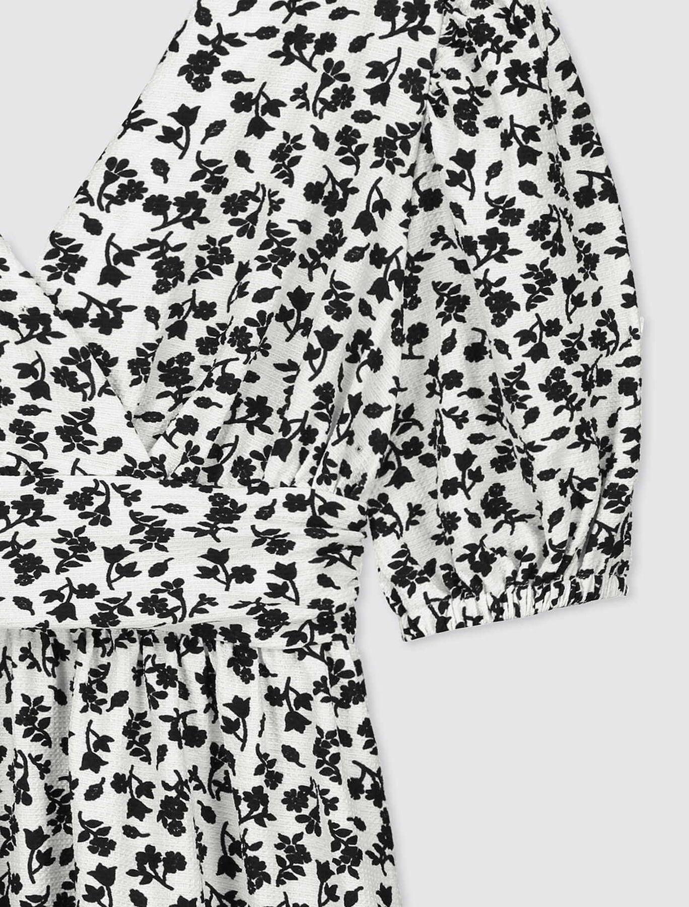 Robe en Maille Imprimée