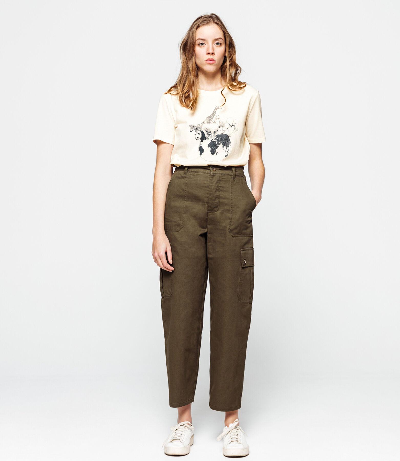T-shirt animaux en coton polyester recyclé
