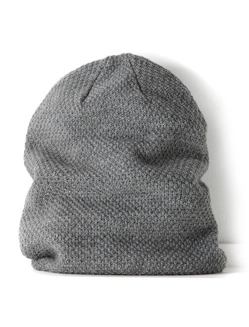 Bonnet loose gris chiné moyen homme