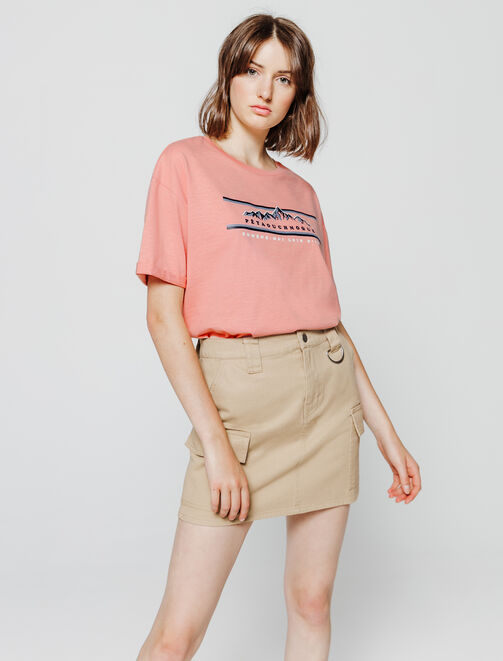 T-shirt imprimé fantaisie femme