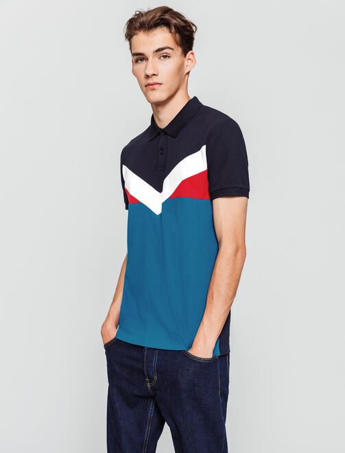 Polo colorblock V homme