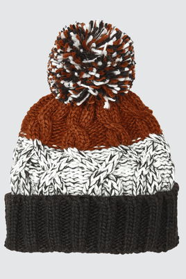 Bonnet Colorblock Pompon