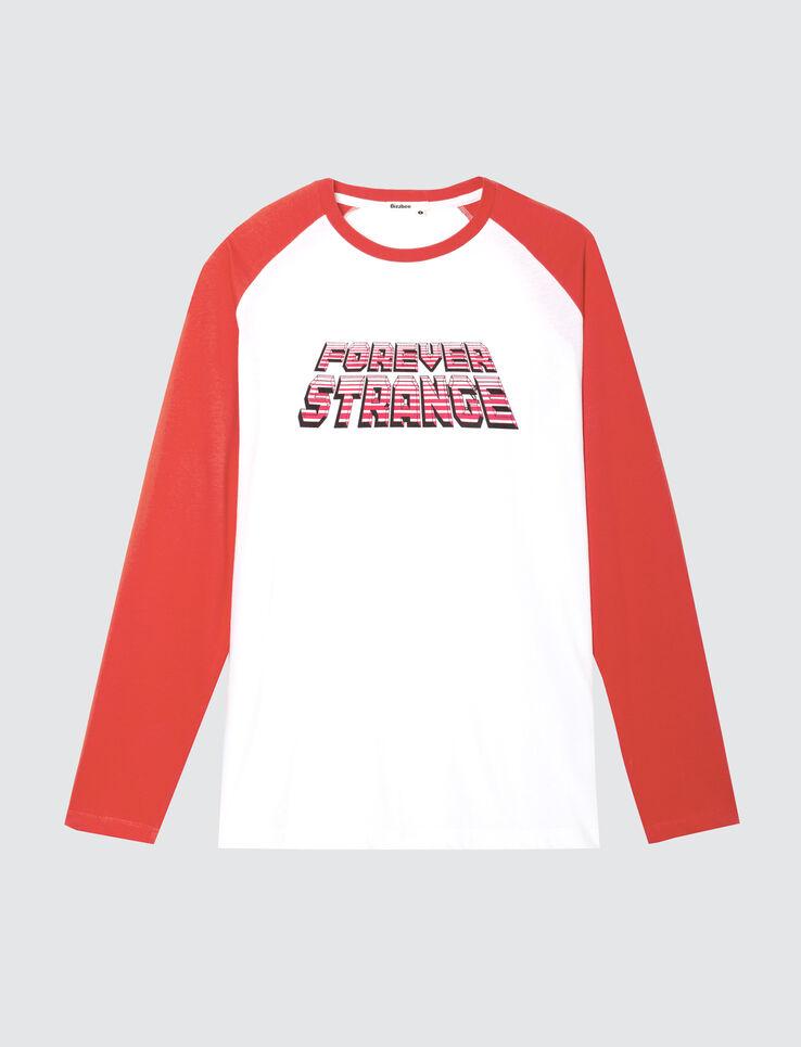 T-shirt ML raglan à message