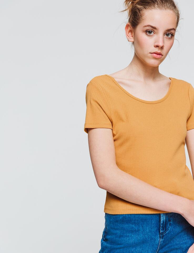 T-shirt uni encolure bardot