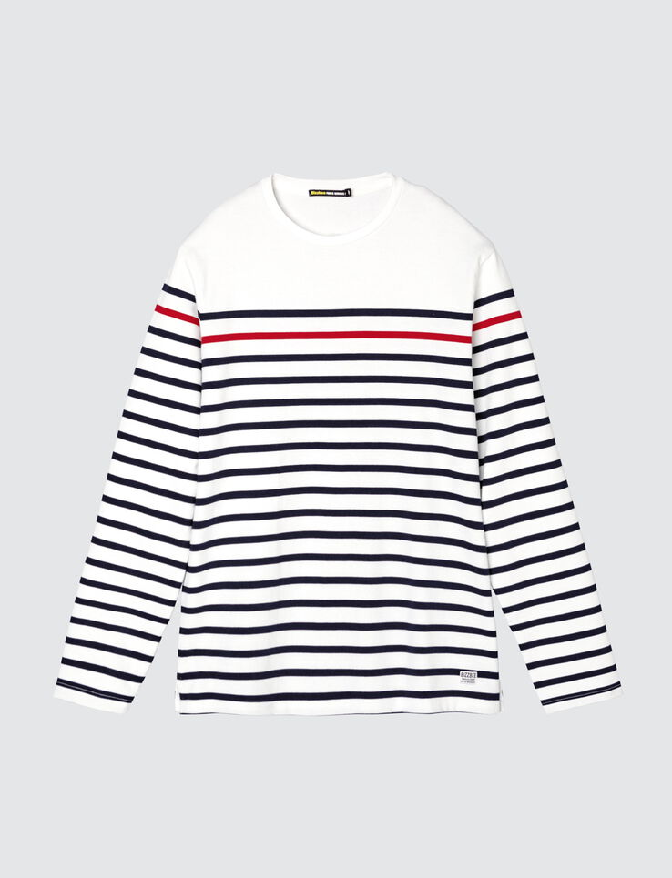 T-shirt esprit marin rayures contrastées