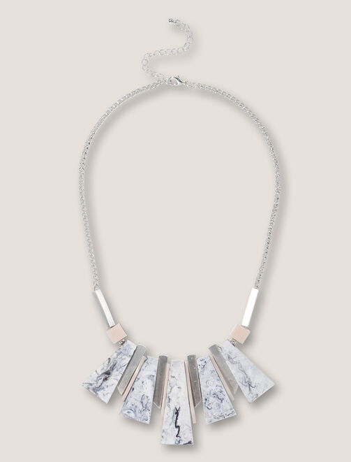 Collier plastron marble stone femme