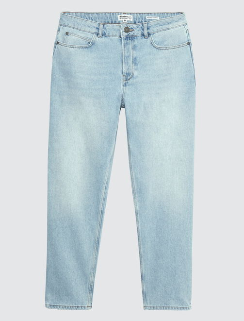 Jean coupe relaxed cropped homme