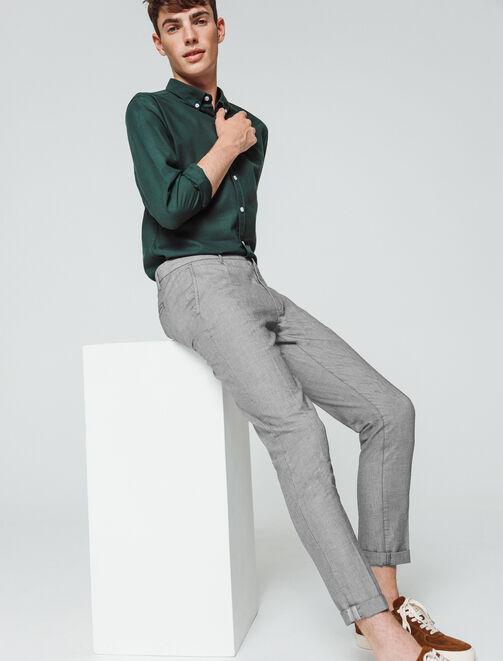 Pantalon de ville fantaisie raccourci homme