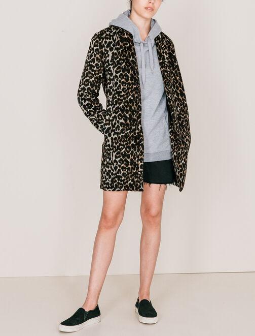 Manteau léopard  femme
