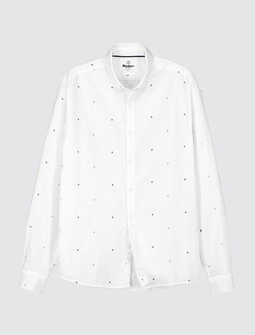 Chemise imprimée minimaliste homme