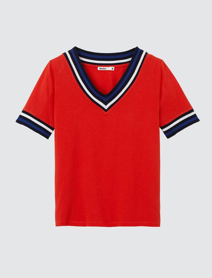 T-shirt col V sportif