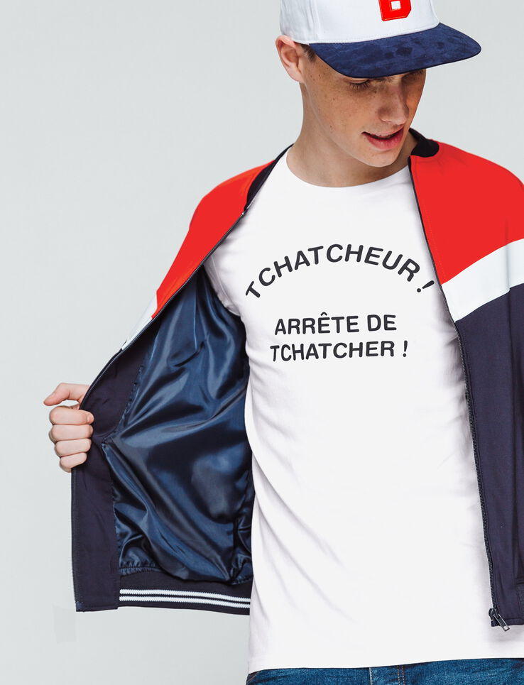 "T-shirt message ""Tchatcheur"""