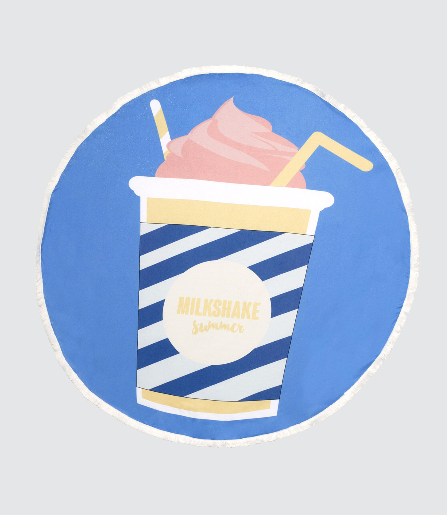 Serviette de Plage Ronde Milkshake