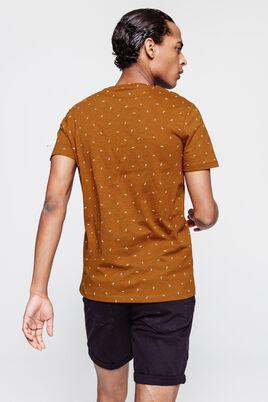 T-shirt avec broderie feuille