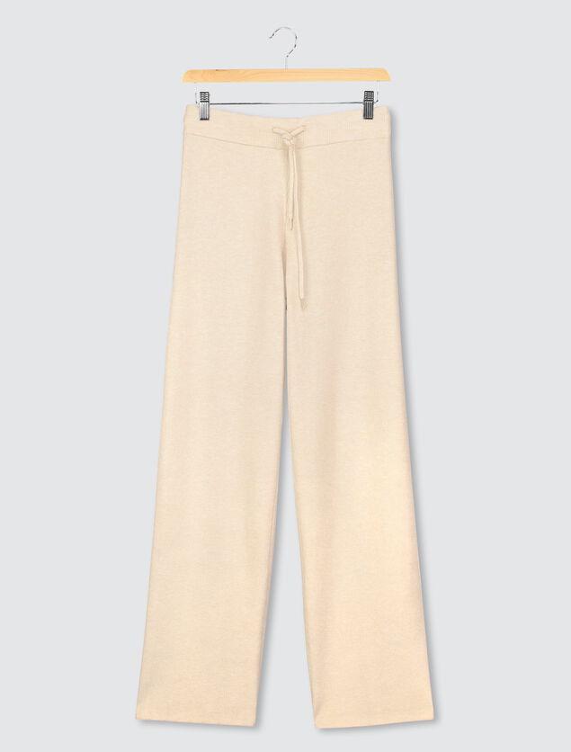 Pantalon cône maille côtelée