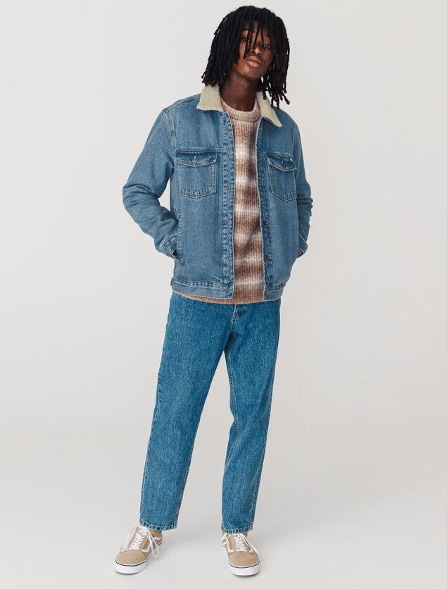 Veste trucker sherpa en jean