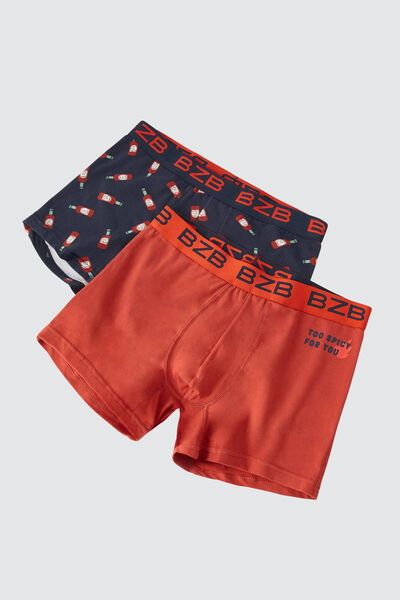 Boxers fantaisie pepper Lot*2
