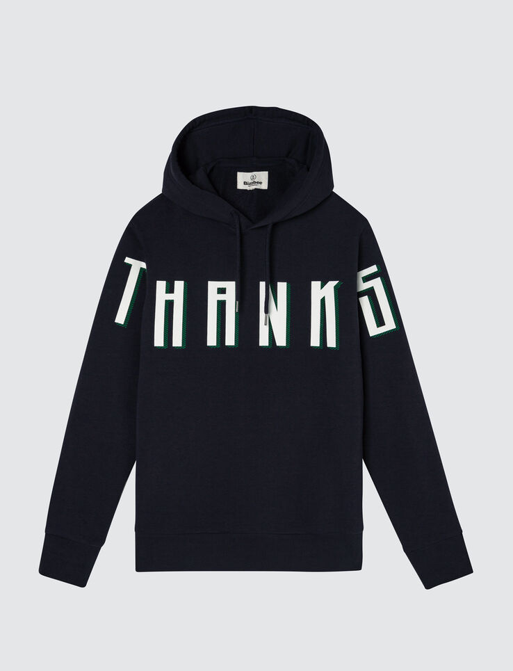 "Sweat enfilé message ""THANKS"""