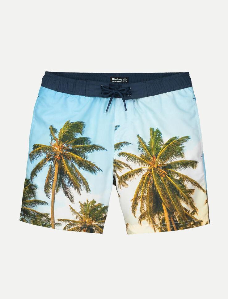 short de bain photoprint palmier
