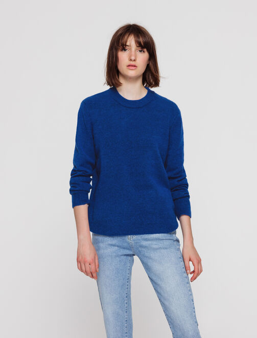 Pull col rond femme